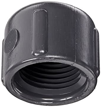 "Spears 448-G Series PVC Pipe Fitting, Cap, Schedule 40, Gray, 3/8"" NPT Female"