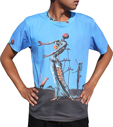 Raan Pah Muang RaanPahMuang Salvador Dali The Burning Giraffe Mens T-Shirt, - Giraffe Burning Dali