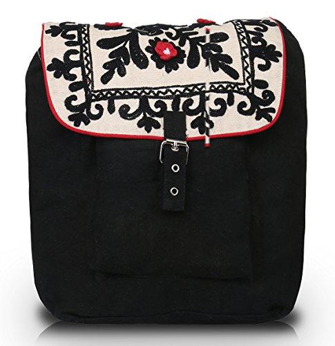Pick Pocket , Damen Rucksackhandtasche Schwarz schwarz