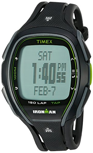 Price comparison product image Timex Unisex TW5K96400 Ironman Sleek 150 TapScreen Full-Size Black Resin Strap Watch