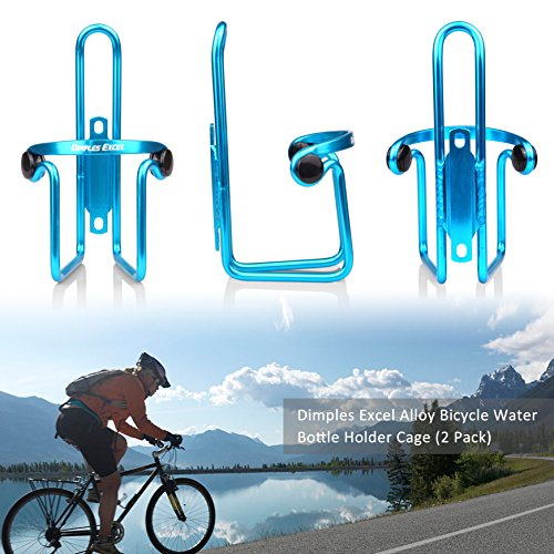 Dimples Excel Bike Bicycle Water Bottle Cage (2 Pack) (2 PACK ( Blue + Blue ))