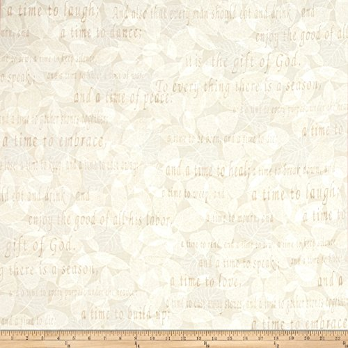Cream Quilt Fabric (Kanvas Bible Studies Season's Cream Fabric By The Yard)