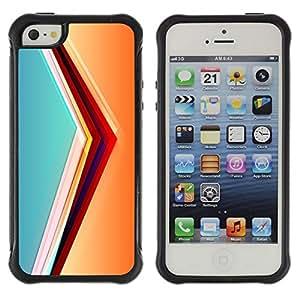 Suave TPU Caso Carcasa de Caucho Funda para Apple Iphone 5 / 5S / svet cvet linii ugol obem / STRONG