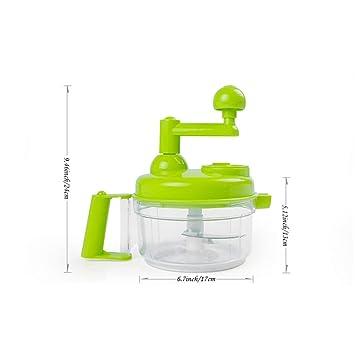 Picador de alimentos, procesador manual de alimentos para cocina, batidora de picadora manual para