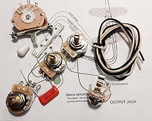 Deluxe Wiring Kit for Fender Strat - .022 Orange Drop Cap - Stratocaster