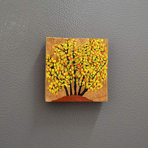 Chinhhari Arts, Decorative Multicolour Wooden Hand Painted Frame Magnet/Fridge Magnet/Door Magnet/Almira Magnet/Home/Office Decorative ColourFull Items
