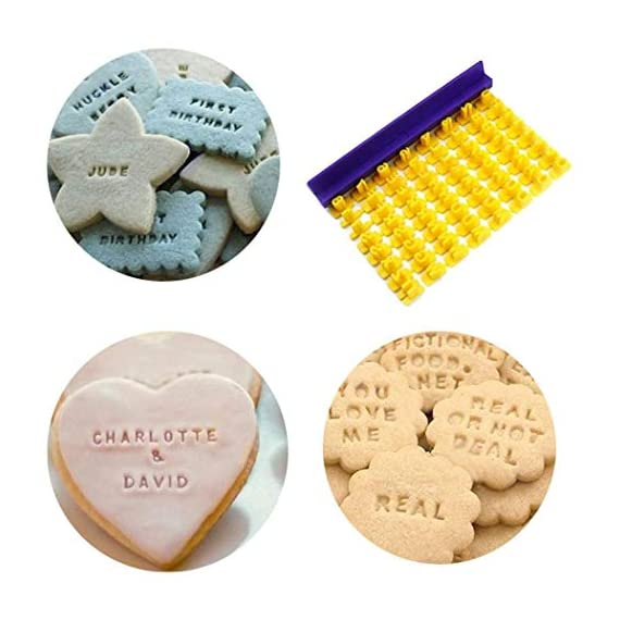 Dasado Keland Alphabet Letter Number Cookie Stamp Mold Cutter Press Home Kitchen Pastry Brushes 5 Material: Plastic Pattern: Letter A-Z, Number Application: Cake, Cookie, etc