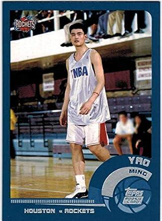 5c437b76fcc57 Amazon.com: 2002-03 Topps Houston Rockets Team Set with Yao Ming RC ...