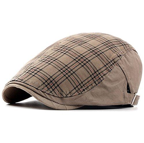 doublebulls hats Cotton Flat Cap Newsboy Hat Men Boys Duckbill IVY Cap  Gatsby Driving Cabbie Cap 778c0440ad0