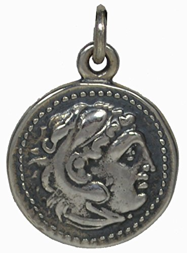 Alexander The Great Hercules Silver Coin Pendant - Macedonia Vergina King (Great Tetradrachm Silver Coin)