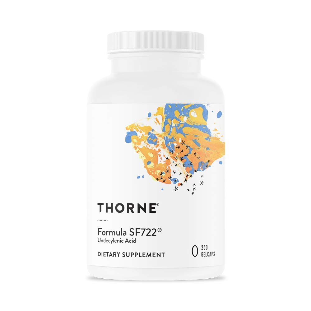 Thorne Research - Formula SF722 - Undecylenic Acid for Gastrointestinal and Gut Flora Support - 250 Gelcaps by Thorne Research