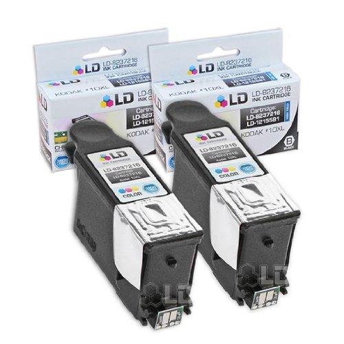 LD Kodak Compatible #10 Set of 2 Black 8237216 Cartridges for EasyShare 5100, 5300, 5500, ESP 3, ESP 3250, ESP 5, ESP 5210, ESP 5250, ESP 7, ESP 7250, ESP 9, ESP 9250, ESP 6150, Hero 7.1, 9.1, 6.1