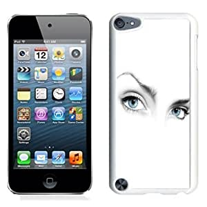 Lovely and Durable Cell Phone Case Design with Mystery Woman Eyes on White Background iPod Touch 5 Wallpaper in White BY icecream design