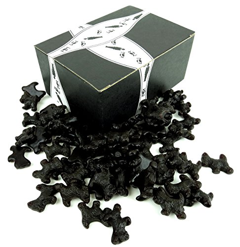 Gourmet Black Licorice Scottie Dogs by Cuckoo Luckoo Confections, 24 oz Bag in a BlackTie Box