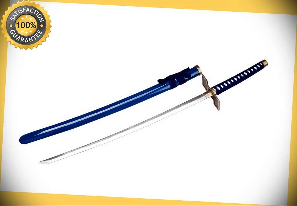 """41/"""" Damascus Blade Sword Katana with Red Scabbard and Red Wrapped Handle NIB"""