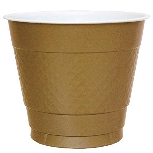 Hanna K. Signature Collection 100 Count Plastic Cup, 9-Ounce, Gold ()