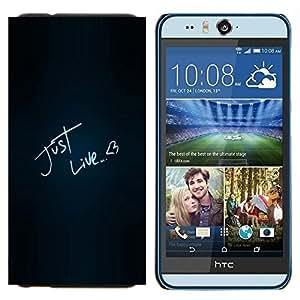 TECHCASE---Cubierta de la caja de protección para la piel dura ** HTC Desire Eye ( M910x ) ** --Divertido igual que el amor