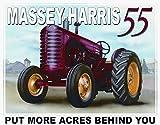 Massey Harris 55 Tin Sign 16 x 13in