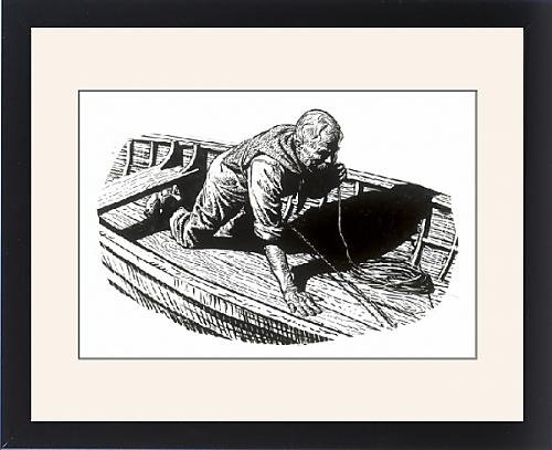 Framed Print of The Old Man and the Sea