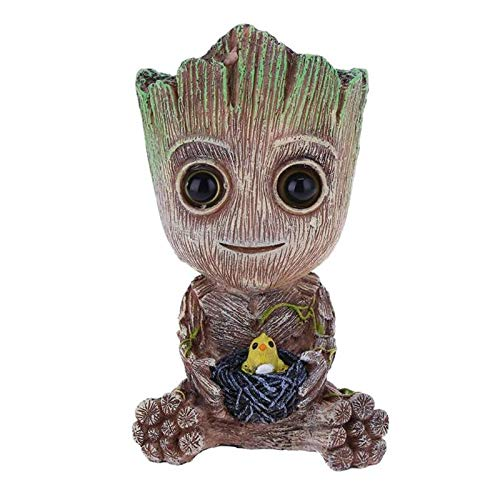 - SeedWorld Decorations - New Groot Tree Man Figurine Aquarium Decoration Air Bubble Trunk Driftwood Fish Tank Lanscaping Ornament Use with Air Pump 1 PCs