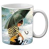meSleep Girl Printed Ceramic Mug Black Tea or Coffee Mug Mugs Kitchen Accessories Anniversary Gift Item