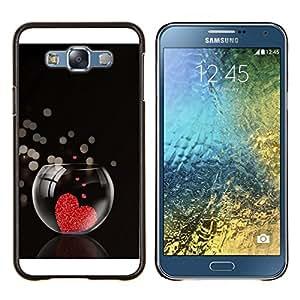 For Samsung Galaxy E7 E700 Case , El amor del Corazón Acuario- Diseño Patrón Teléfono Caso Cubierta Case Bumper Duro Protección Case Cover Funda