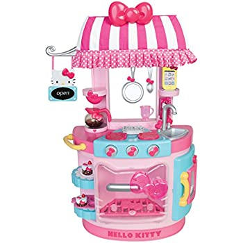 hello kitty kitchen play set miniature toy preschool girl role play toys games. Black Bedroom Furniture Sets. Home Design Ideas