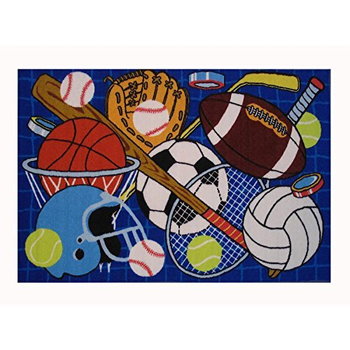 Fun Rugs Lets Play Childrens Rug, 19'' x 29'', Blue by Fun Rugs (Image #2)
