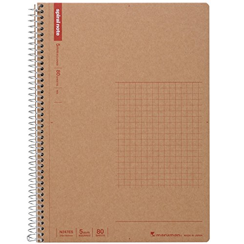 Maruman A5 spiral notebook grid ruled 80 sheets N247ES 5 volume set