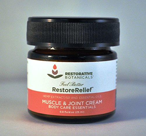 Restorative-Botanicals-50-mg-Hemp-Oil-Muscle-Joint-Pain-Relief-Cream-25ml-Restore-Relief