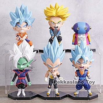 LOTE Pack 6 figuras de Dragon Ball DBZ DBS DB GT PVC personajes ...