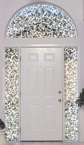 FRONT DOOR ARCH WINDOW ETCHING DOOR NUMBER WINDOW FROSTING FILM CUT TO SIZE