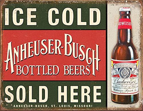 Desperate Enterprises Anheuser-Busch - Ice Cold Tin Sign, 16