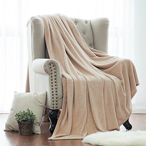 Flannel Fleece Blanket Camel Beige Twin  - Plush Microfiber Sofa Shopping Results
