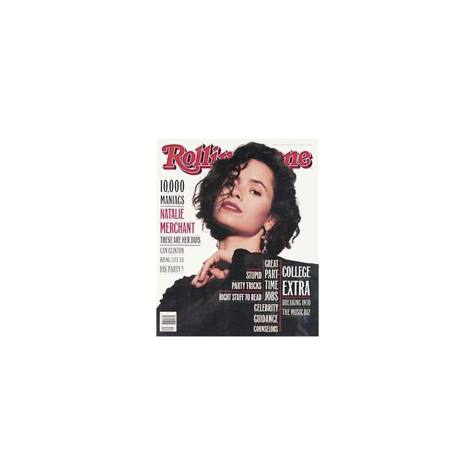 Rolling Stone Magazine # 652 March 18 1993 Natalie Merchant (Single Back Issue)