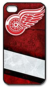 icasepersonalized Personalized Protective Case for iPhone 4/4S - NHL Detroit Red Wings by mcsharks