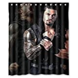 POPcases Supplier Flawless Creative gorgeous retro WWE roman reigns Shower Curtain Shower 100% WaterProof Polyester Fabric 60