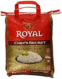 Royal Chef\'s Secret Extra Long Grain Basmati Rice, 10 Pound
