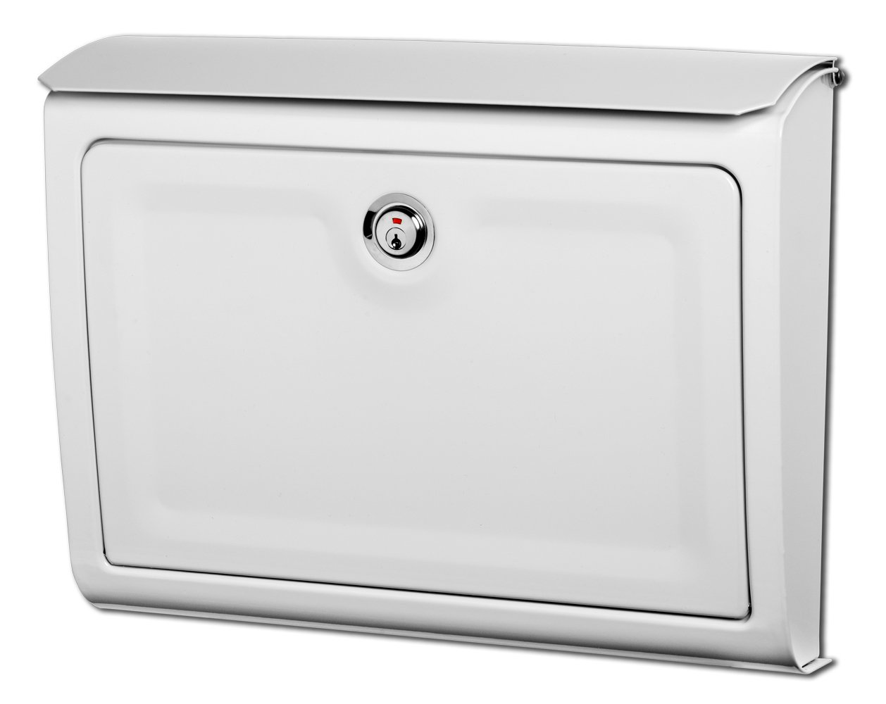 Architectural Mailboxes Whitman Metal White Lockable Wall Mount Mailbox