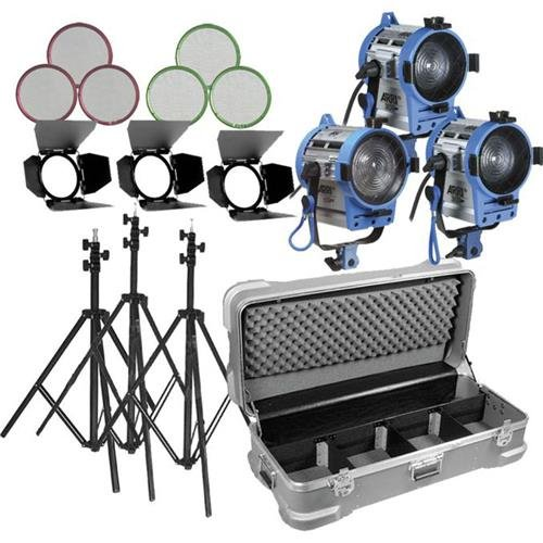 Arri 650 Tungsten 3 Light Kit with Wheeled Case