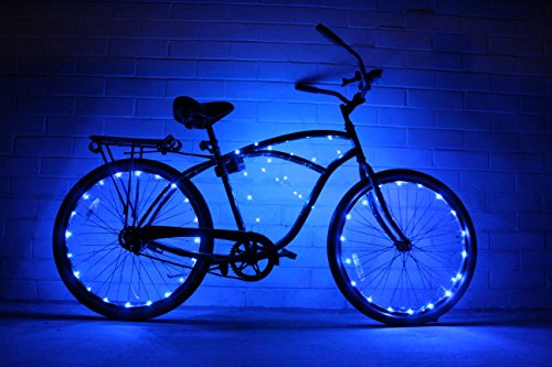 GlowRiders Ultra Bright LED - Bike Wheel Light String (1 pack) - Assorted Colors Bicycle Tire Accessories- Burning Man Accessory