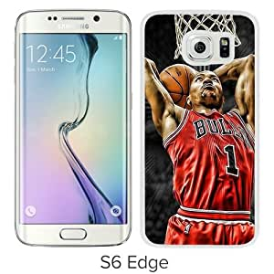 Unique Samsung Galaxy S6 Edge Screen Case ,Popular And Durable Designed Case With Derrick Rose White Samsung Galaxy S6 Edge High Quality Phone Case