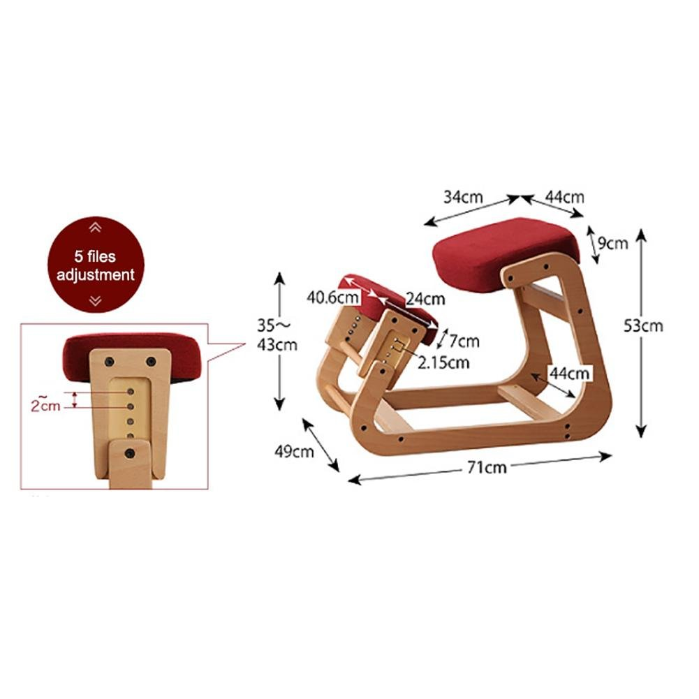 Kneeling chair Children's orthopedic chair Student chair Adult waist health chair Ergonomics Anti-myopia Anti-humpback computer chair Correction sitting posture chair The whole package Solid wood by YMSYMS (Image #5)