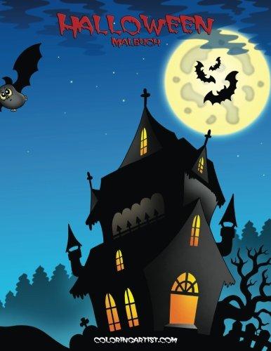 Halloween Malbuch 1 (Volume 1) (German Edition)