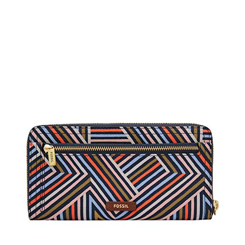 Fossil Logan RFID Zip Around Clutch Multi by Fossil (Image #4)