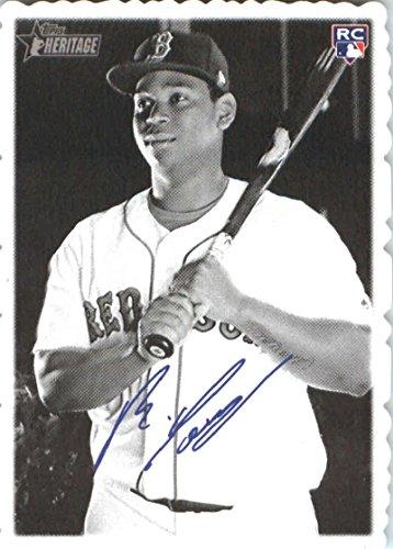 2018 Topps Heritage 1969 Topps Deckle Edge #21 Rafael Devers Boston Red Sox Baseball Card