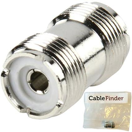 UHF PL259 acoplador de vaso adaptador de enchufe/conector - de Cable Coaxial - RF