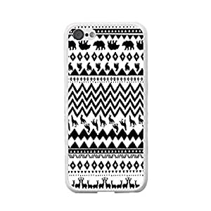 Animal For Iphone 5C Case CoverPersonalized Custom Cute Hard Plastic Mobile Phone s Skin (chevron dog BY517)