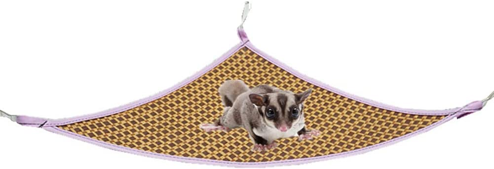 LeerKing Small Animals Cool Rattan Hammock Summer Cooling Cage Hanging Bed Mat for Sugar Glider Guinea Pigs Ferrets Chinchilla Hamsters Hedgehogs