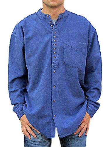 Stehkragenhemd - Irisches Stehkragenhemd - SC 506 Dusty Blue